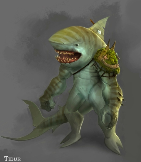 shark humanoid hatched by - photo #3